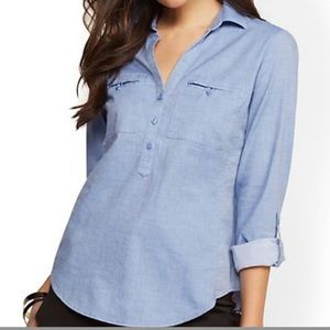 NY&Co. Blue Button Down